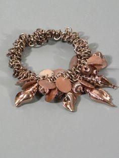 Chocolate Chain and Charm Bracelet