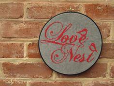 Love Nest PDF Cross Stitch Pattern. $5.00, via Etsy.