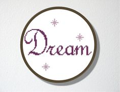 Counted Cross stitch Pattern PDF Dream by CharlotteAlexander, $4.00