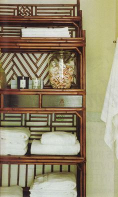 vintage bamboo bath storage | house & home may 2012