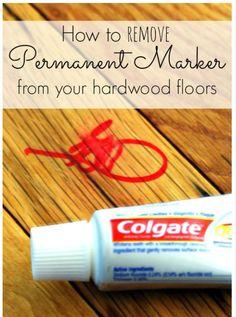 Clean marker off wood floors