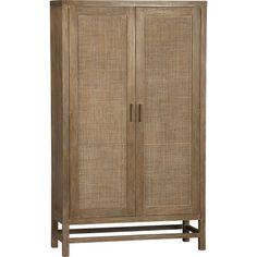 Blake Grey Wash 2-Door Cabinet in Storage Cabinets, Carts | Crate and Barrel