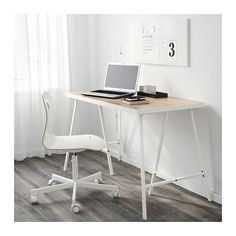 IKEA 120x60cm White white stained oak effect, White | Trade Me Multifunctional Furniture, Ikea Furniture, Home Office Furniture, Ikea Linnmon, Small Home Offices, White Stain, Apartment Living, Montage, Decoration