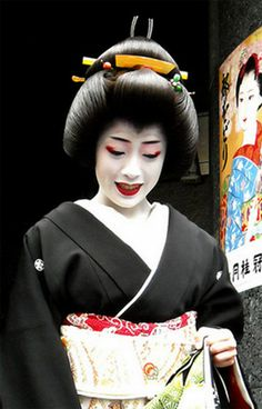 gelled hairstyles : Geisha hairstyles split peach. Geisha hairstyles and makeup. Geisha ...