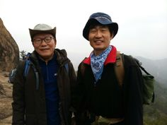 We are old friends living in Seoul, South Korea, going hiking together over the weekend, happy early spring 2014