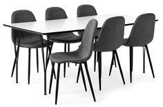 Produktbild - Spencer, Matgrupp med 6 stolar Tracy