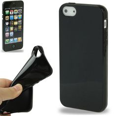 [USD0.58] [EUR0.55] [GBP0.44] Smooth TPU Case for iPhone 5  (Black)