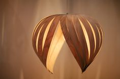 Noisette 1 wood veneer lamp by AtelierCocotte on Etsy  White birch