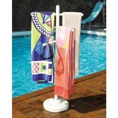 Poolside Towel Rack Garden Patio Outdoor Swimming Pool Summer Deck Yard Water #HydroTools