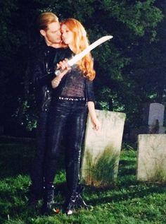 """Kat_McNamara: Working the graveyard shift with DomSherwood1 ... #nightshoot"" #Clace #Clary #Jace #Kat #Dom"