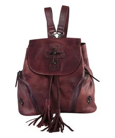 Another great find on #zulily! Purple Cross Leather Backpack #zulilyfinds