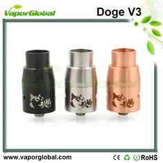 Doge V3 RDA Atomizer Specifications 1.22mm diameter 2.304 grade stainless steel top cap and base 3.6 Cyclops air flow control 4.CNC machined hexagonal positive pole with 5 multiple 5 mm slanted holes 5.3 negative poles with 2mm holes 6.copper sleeve with