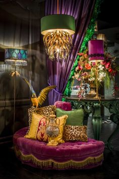 Dark Interiors, Colorful Interiors, Estilo Kitsch, Maximalist Interior, Glamour Decor, Interior Design Singapore, Eclectic Decor, My New Room, Bohemian Decor