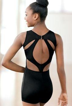 Cutout Back Biketard | Dancewear Solutions