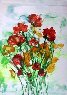 Enkaustik Atelier: Blumenstrauss