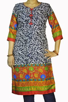 ABHISAR Kurti 002.Main Presenting Pashmina Long Kurta from the house of ABHISAR. The kurta is vibrant, light in weight and perfect for daily wear. Match it with wide range of ABHISAR bottoms for a complete look.