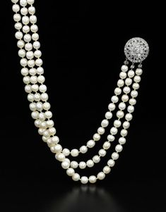 """Royal Jewels from the Bourbon-Parma Family"""" are being auctioned by Sotheby's in Geneva on November Shown above Is Natural Pearl and Diamond Jewelry previously owned by Marie Antoinette, Circa late Century. Pearl And Diamond Necklace, Diamond Brooch, Diamond Jewelry, Diamond Necklaces, Pearl Diamond, Bourbon, Royal Jewelry, Pearl Jewelry, Silver Jewelry"""