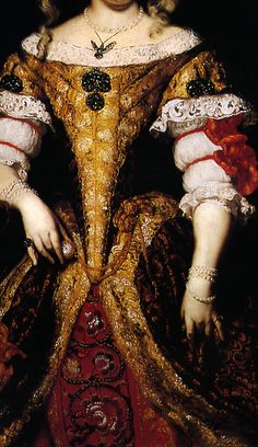 Countess Monzi (detail), by Nicolaes Maes (Dutch, 1634-1693).