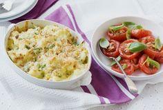 Cauliflower & sweetcorn bake with slow-roasted tomatoes