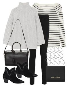 """""""Untitled #11692"""" by florencia95 ❤ liked on Polyvore featuring J.Crew, Yves Saint Laurent, Michael Kors, H by Hudson, ASOS, women's clothing, women, female, woman and misses"""