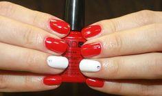 Nails Follow me @janefranciscomk Fonte: pesquisas internet шеллак дизайн красный и белый