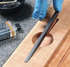 Sleek-looking Recessed Pulls - Fine Woodworking Article