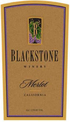 Blackstone Winery Merlot California 2010  750ML
