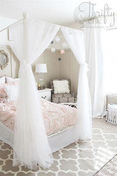Cute decorating ideas for girls bedroom #GirlsRoomDecor #bedroomideasforteengirls