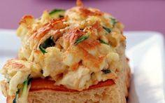 Munakascrostinit Mozzarella, Cauliflower, Vegetables, Food, Cauliflowers, Essen, Vegetable Recipes, Meals, Cucumber