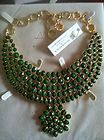NEW AMRITA SINGH $250 EAST LAKE EVERGREEN FLORAL RESIN BIB NECKLACE - $250, Amrita, EAST, Evergreen, Floral, LAKE, Necklace, Resin, Singh - http://designerjewelrygalleria.com/amrita-singh/amrita-singh-necklaces/new-amrita-singh-250-east-lake-evergreen-floral-resin-bib-necklace-2/