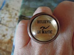 BELIEVE in MAGIC Glass tile and Metal by DreamALittleDesigns, $17.00
