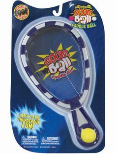Original Boom Ball Paddleball   The Original Boom Ball Paddleball from Poof Slinky is a traditional tethered ball and paddle set with one thunderous exception. When the attached ball hits the paddle it makes a booming, drum-like sound - and you know how much kids like to make noise! Ages 6 & up.