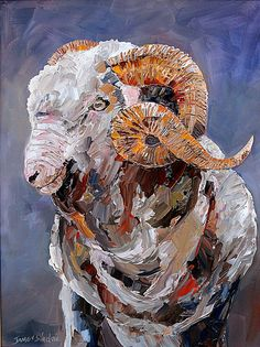 This is framed in a dark wooden frame with a gold edge around the painting. Living In New Zealand, Wooden Frames, Sheep, Garden Ideas, Palette, Sculpture, Artist, Painting, Wood Frames