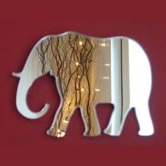 Elephant Mirror - 5 Sizes Available. Also available in Packs of 10 Baby Elephant Crafting Mirrors