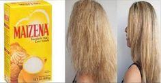 Mulheres de todo o mundo estão usando esta receita com maisena para o cabelo e estão adorando!