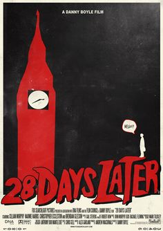 Cool retro style 28 days later poster