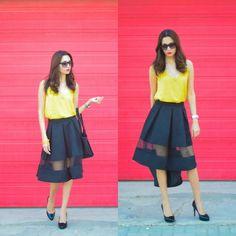 Express  Skirt, Mango Top