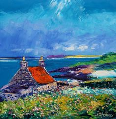 """Summerlight at Crois Mhor Croft Islay""    John Lowrie Morrison"