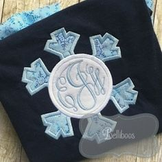 Snowflake Monogram Frame Applique - 4 Sizes!   What's New   Machine Embroidery Designs   SWAKembroidery.com Belliboos