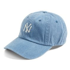 Women's American Needle Danbury New York Yankees Baseball Cap ($44) ❤ liked on Polyvore featuring accessories, hats, navy, yankees baseball hat, ny yankees baseball cap, navy blue baseball cap, baseball cap hats and ball cap