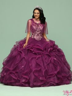 Q by Da Vinci Quinceanera 80401 Sherri Hill Prom 2020 Purple Quinceanera Dresses, Prom Dresses, Formal Dresses, Quince Dresses, Sweet Dress, Pageant, Ball Gowns, Tulle, Collection