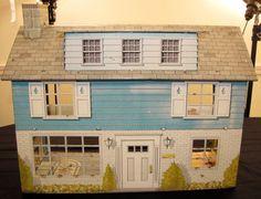 Vintage Marx Tin Litho Dollhouse