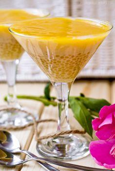 Roślinna - blog wegański: Kokosowy pudding z tapioki z sosem mango