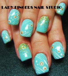 #nail #nails #nailart #nailporn #nailideas #naildesign #trendynails #gelnails #gelpolish #nailpolish #art #gelmanicure #manicure #shortnails #squarenails #glitter #handpaintednailart #turquoise #summernails #springnails #blue