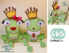 Frog Fry Box (boy/girl) fro svg cutting files