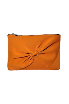 "This neoprene clutch is a great pop of color for any outfit, and is designed so that it can be washed. 12"" x 8""   Orange Neoprene Clutch by Leghila. Bags - Clutches South Carolina"