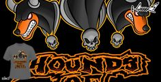 T-shirts - Design: Hounds of Hell - by: Vic Neko