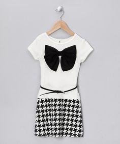 Black & White Bow Dress - Toddler & Girls by Mini Misses on #zulilyUK today!