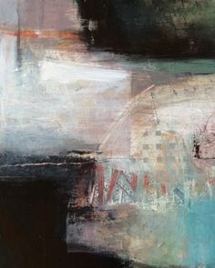 """Bridging Worlds Abstract by Joan Fullerton Medium: Mixed Media on Cradled Panel Size: 20 x 16 x .75"""" Price: $850.00 USD Availability: Available"""