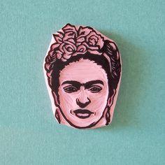 Frida Kahlo rubber stamp by CassaStamps